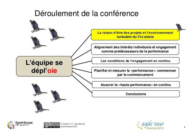 C.Emond et C. Goudreault Quali•Scope 2014 4 Les conditions de l'engagement en continu Alignement des intérêts individuels ...