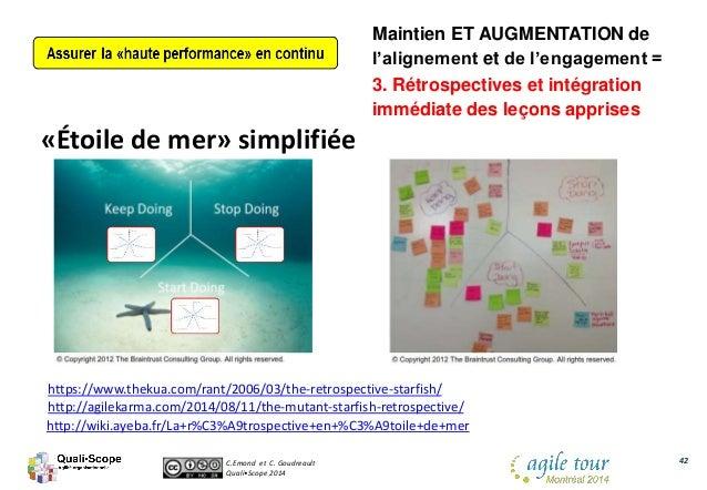 C.Emond et C. Goudreault Quali•Scope 2014 42 «Étoile de mer» simplifiée https://www.thekua.com/rant/2006/03/the-retrospect...