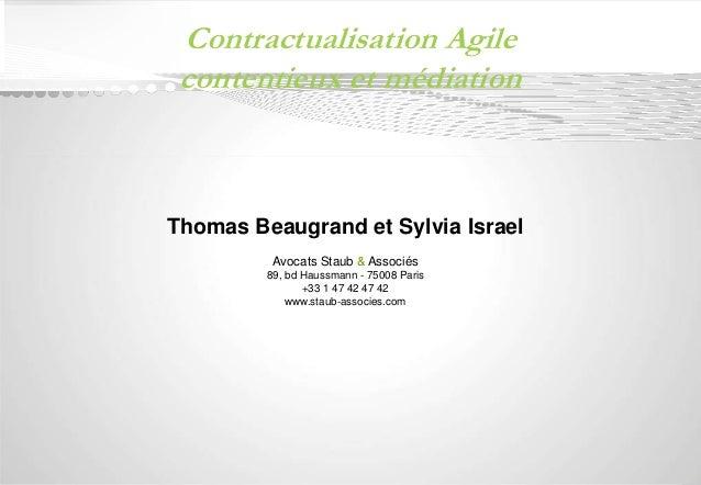 Document confidentiel  Contractualisation Agile  contentieux et médiation  Thomas Beaugrand et Sylvia Israel  Avocats Stau...