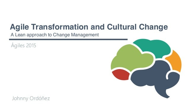 Agile Transformation and Cultural Change A Lean approach to Change Management Ágiles 2015 Johnny Ordóñez