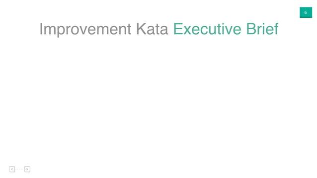 6 Improvement Kata Executive Brief