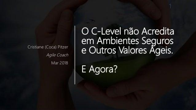 O C-Level não Acredita em Ambientes Seguros e Outros Valores Ágeis. E Agora? Cristiane (Coca) Pitzer Agile Coach Mar 2018 1