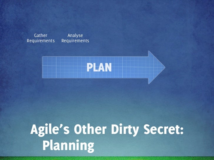 Gather        Analyse      Write   Scope    WriteRequirements   Requirements   Epics     R1    Stories Agile's Other Dirty...