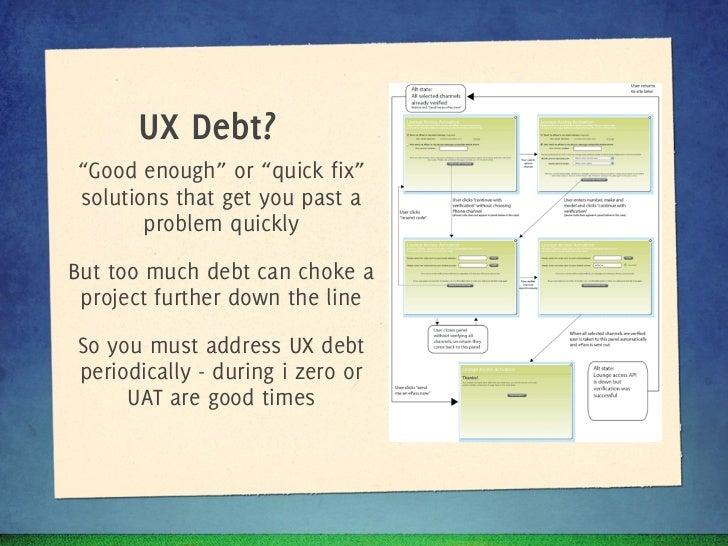 UX Debt?