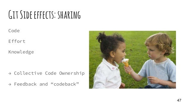 """GitSideeffects: sharing Code Effort Knowledge → Collective Code Ownership → Feedback and """"codeback"""" 47"""