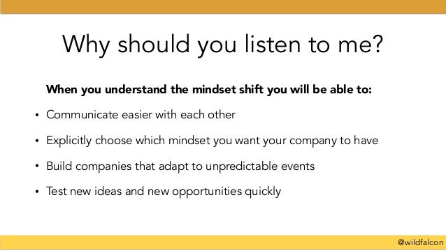 @wildfalcon Why should you listen to me? When you understand the mindset shift you will be able to: • Communicate easier w...