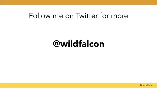 @wildfalcon Follow me on Twitter for more @wildfalcon