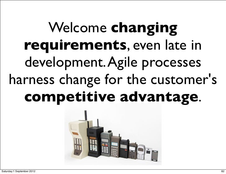Welcome changing requirements, even late