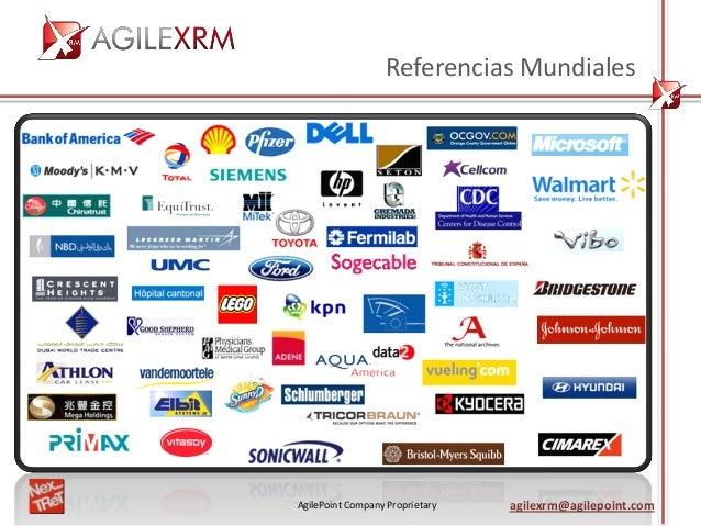 AgilePoint Company Proprietary agilexrm@agilepoint.com Referencias Mundiales