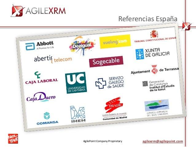 AgilePoint Company Proprietary agilexrm@agilepoint.com Referencias España