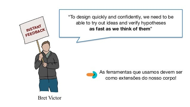 """Bret Victor """"To design quickly and confidently, we need to be able to try out ideas and verify hypotheses   as fast as we ..."""