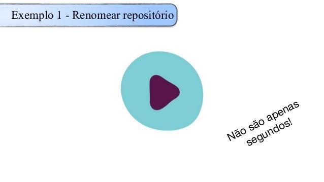 Exemplo 1 - Renomear repositório Não são apenas segundos!