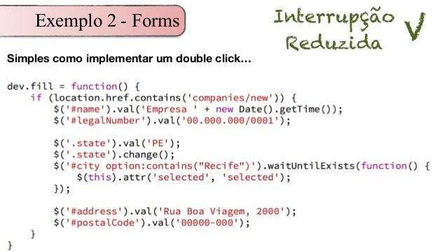 Exemplo 2 - Forms Interrupção Reduzida V Simples como implementar um double click…