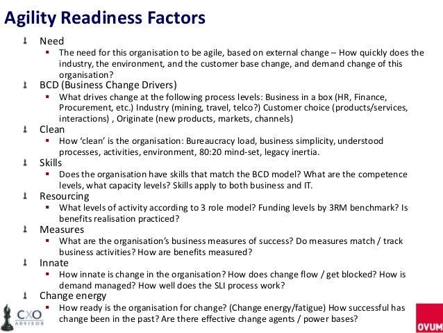 Customisable Agile readiness assessment