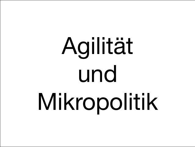 Agilität und Mikropolitik