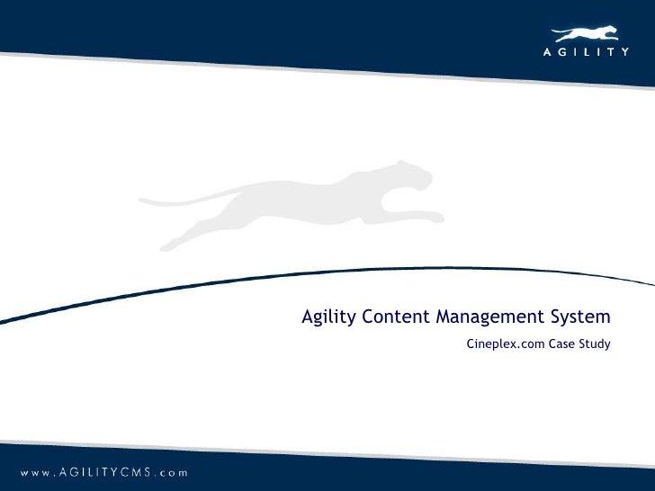 Agility Content Management System<br />Cineplex.com Case Study<br />