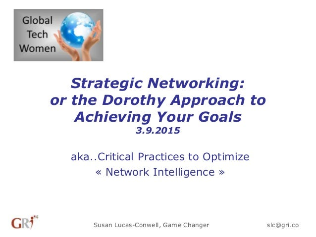 Strategic Networking: or the Dorothy Approach to Achieving Your Goals 3.9.2015 aka..Critical Practices to Optimize « Netwo...