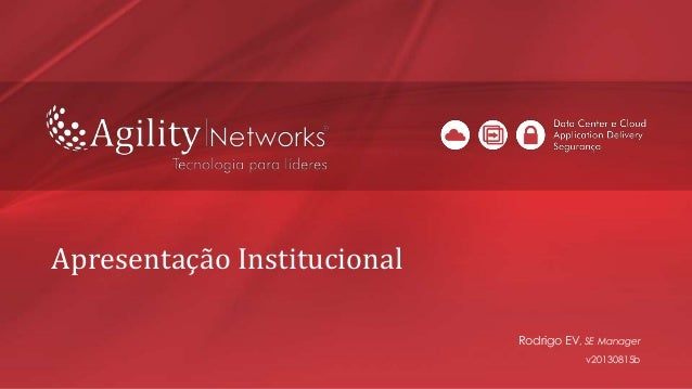 Apresentação Institucional Rodrigo EV, SE Manager v20130815b