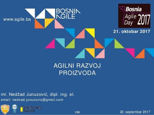 PRESENTATION Date 00/00/00 22. septembar 2017 AGILNI RAZVOJ PROIZVODA email: nedzad.junuzovic@gmail.com mr. Nedžad Junuzov...