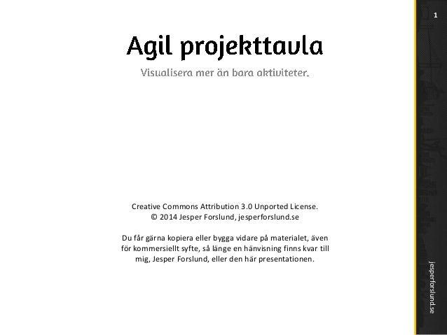 1  Creative Commons Attribution 3.0 Unported License. © 2014 Jesper Forslund, jesperforslund.se  jesperforslund.se  Du får...