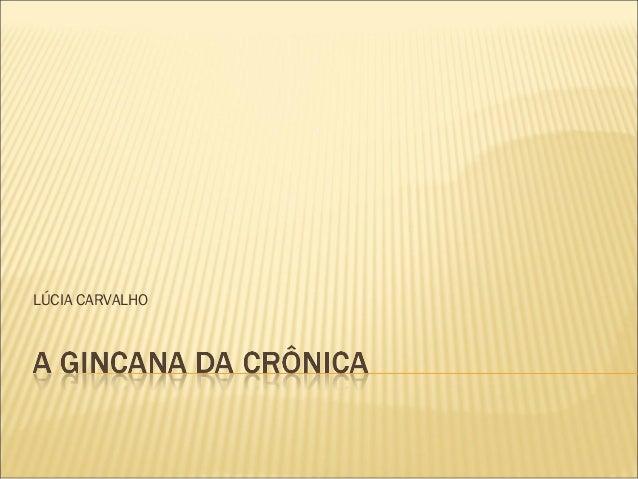 LÚCIA CARVALHO
