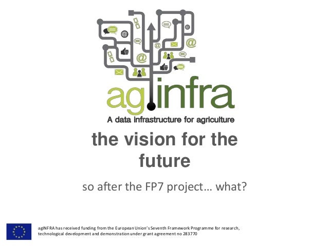 the vision for the future so after the FP7 project… what? agINFRA has received funding from the European Union's Seventh F...