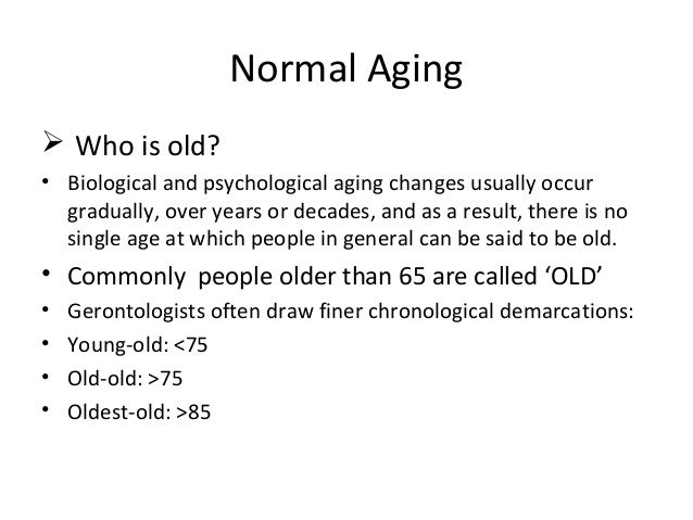 continuity theory of aging examples
