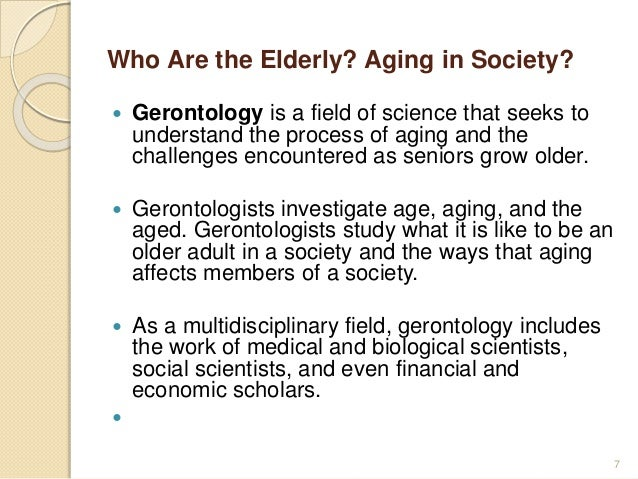 Role of elderly in society