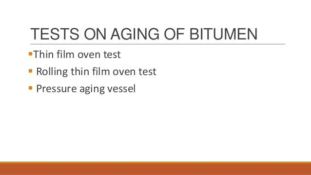 ageing of bitumen Aging penetration of aged binders decreases than unaged binders but decrease in penetration value is more for binder having less amount of filler material.