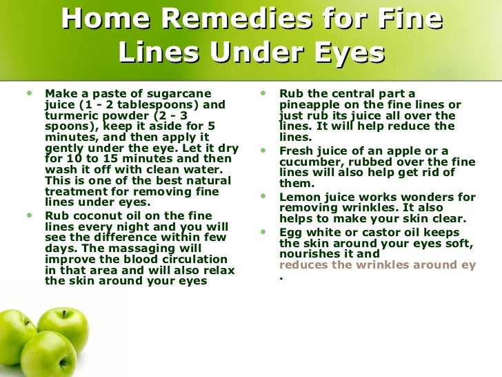 Home Remedies for Fine Lines Under Eyes ...