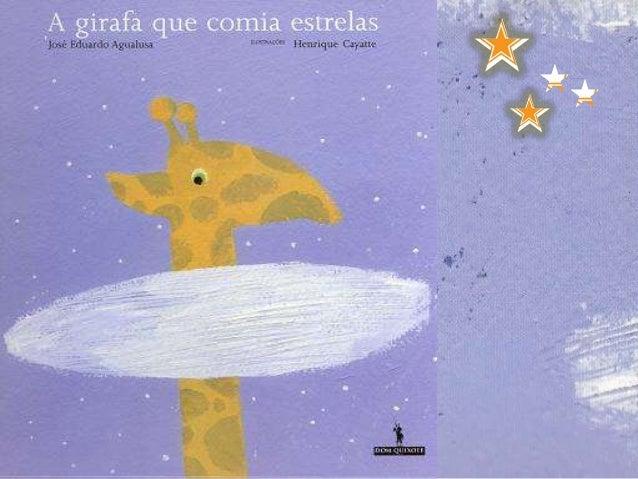 A girafa Olímpia era muito alta!Com 5 anos já ultrapassava em altura todas as girafasda savana.Andava sempre com a cabeça ...