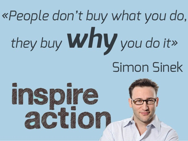 «People don't buy what you do,they buy whyyou do it»Simon Sinek