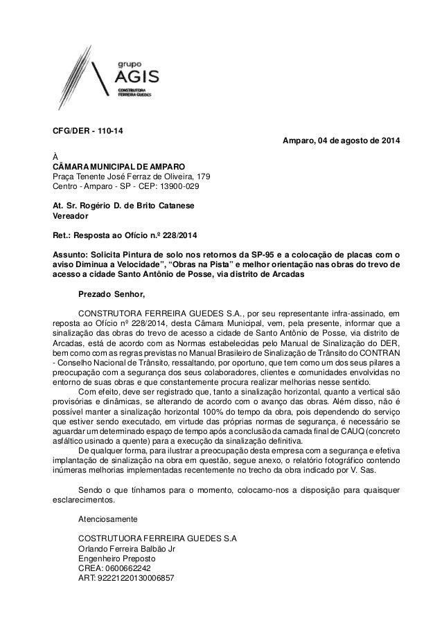 À CÂMARA MUNICIPAL DE AMPARO Praça Tenente José Ferraz de Oliveira, 179 Centro - Amparo - SP - CEP: 13900-029 At. Sr. Rogé...