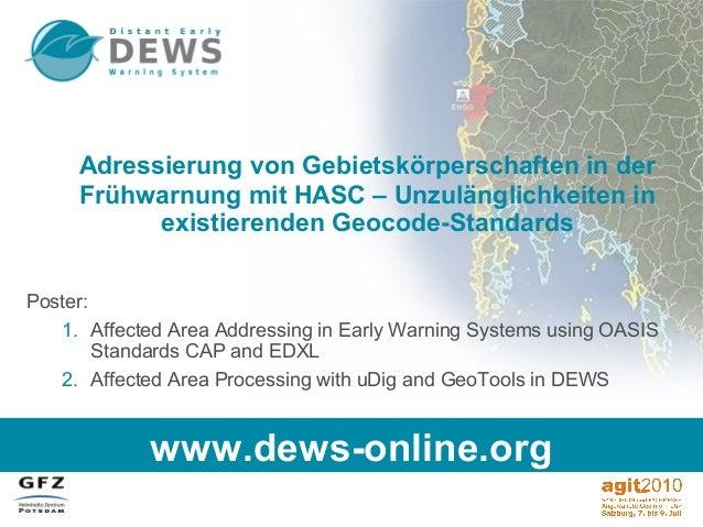 Adressierung von Gebietskörperschaften in der Frühwarnung mit HASC – Unzulänglichkeiten in existierenden Geocode-Standards...