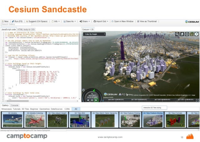 AGIT 2017: Cesium 1 35, WebGL Virtual Globe and Map Engine