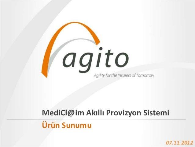 MediCl@im Akıllı Provizyon Sistemi             Name Of The PresentationÜrün Sunumu • 22.12.2012                           ...
