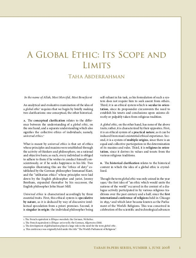 Global responsibilities