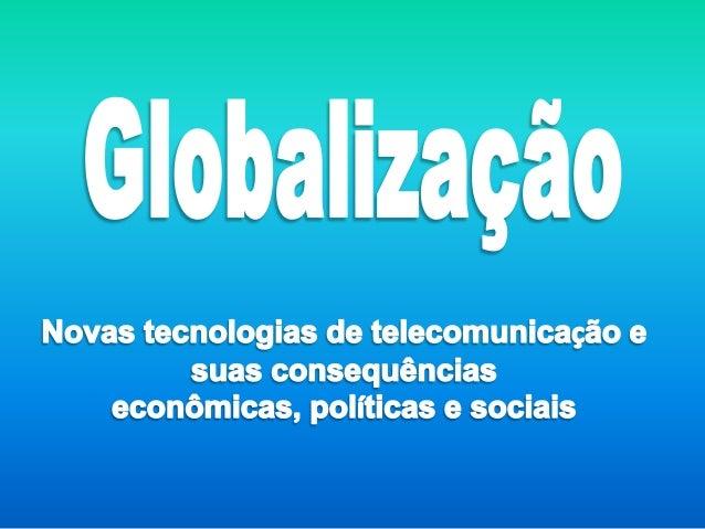 A globalização