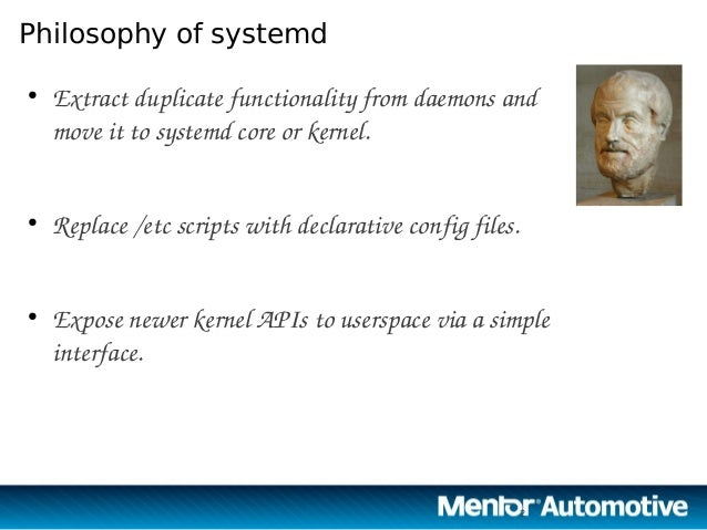 Automotive Grade Linux and systemd Slide 2