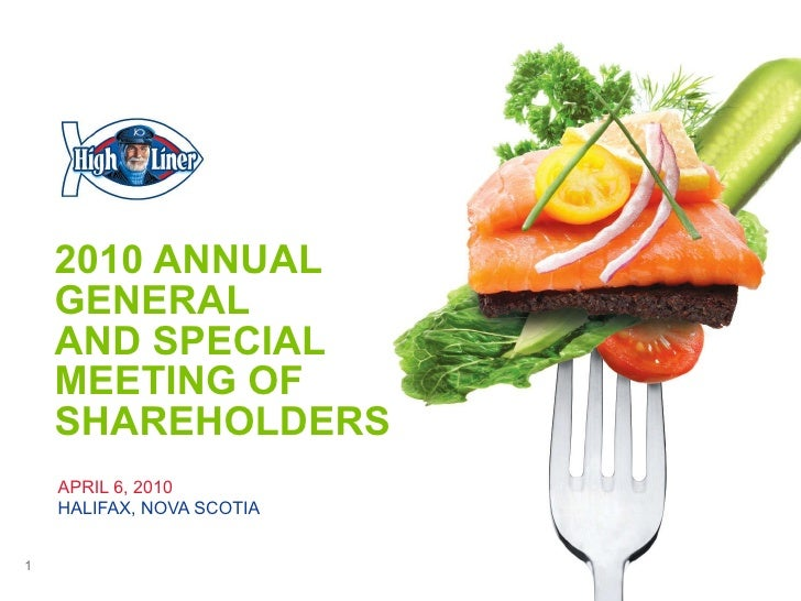 2010 ANNUAL GENERAL  AND SPECIAL MEETING OF SHAREHOLDERS APRIL 6, 2010  HALIFAX, NOVA SCOTIA