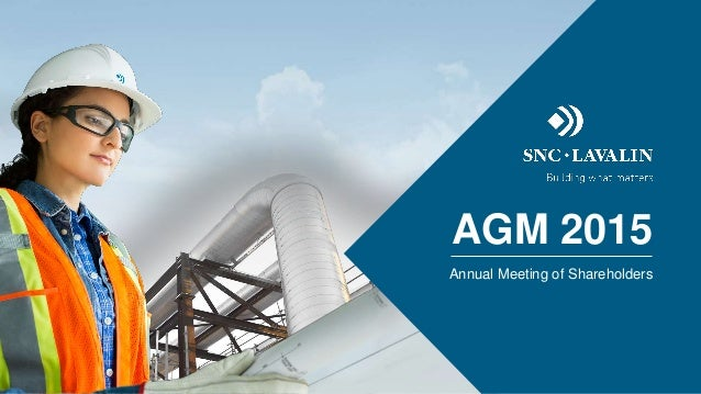 AGM 2015 Annual Meeting of Shareholders