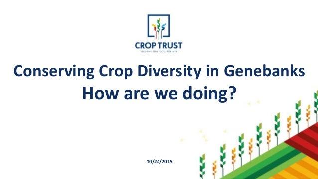Conserving Crop Diversity in Genebanks How are we doing? 10/24/2015