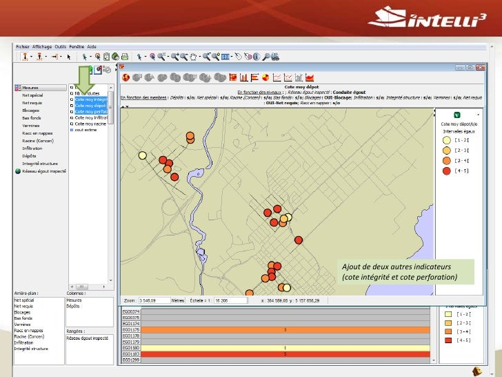 Intelli3 inc<br />14<br />Sélectionsur les indicateurs des conduites pour filtrer le résultat (blocage – oui, Nettoyage- o...