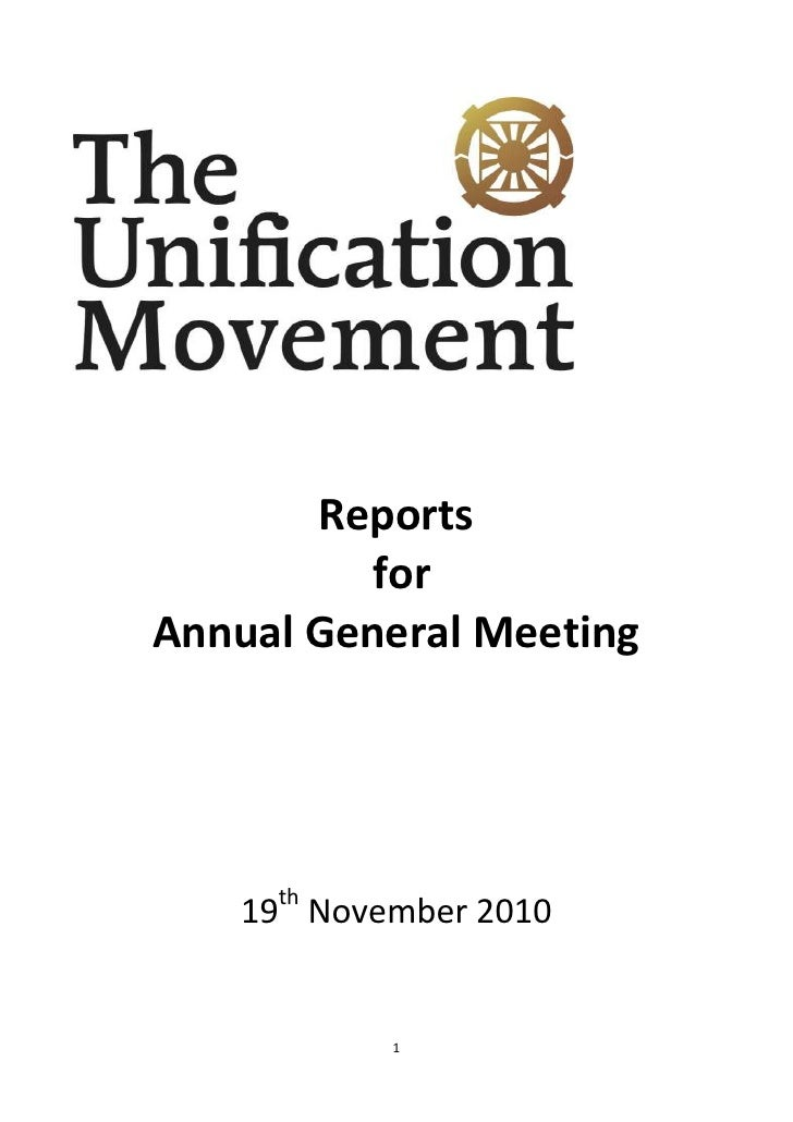 Agm reports 2010