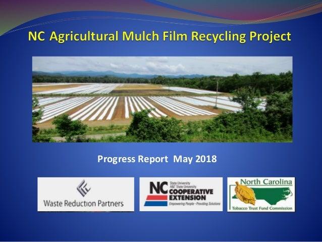 Progress Report May 2018
