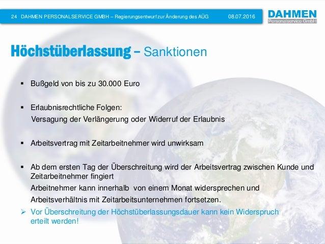 Änderung des AÜG im Überblick - DAHMEN Personalservice GmbH