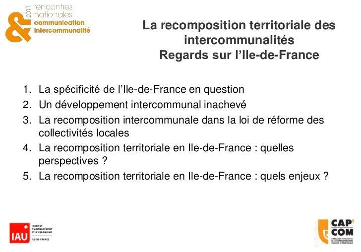 La recomposition territoriale des intercommunalit s - Taxe sur les bureaux en ile de france ...