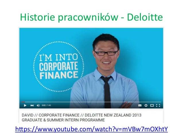 Historie pracowników - Deloitte https://www.youtube.com/watch?v=mVBw7mOXhtY