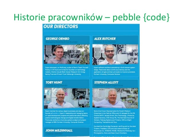 Historie pracowników – pebble {code}