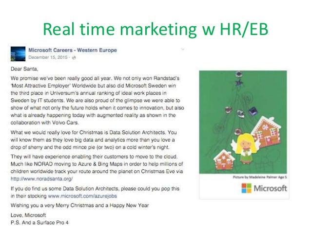 Real time marketing w HR/EB